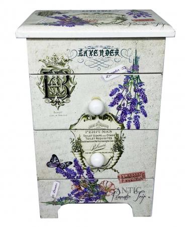 Cutie Bijuterii Lemn Lavender