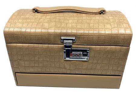 Cutie bijuterii Luxury Beige Croco by Borealy [1]