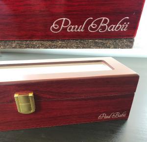 Cutie ceasuri lemn Luxury Red1