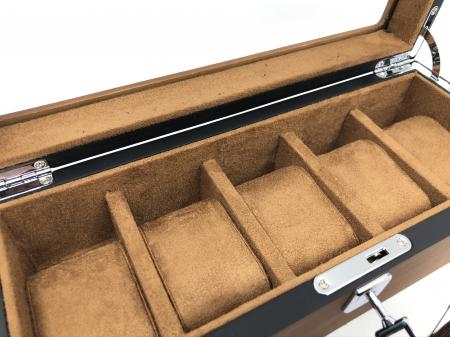 Cutie 5 ceasuri lemn Luxury Brown5