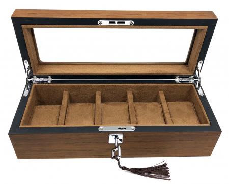 Cutie 5 ceasuri lemn Luxury Brown0