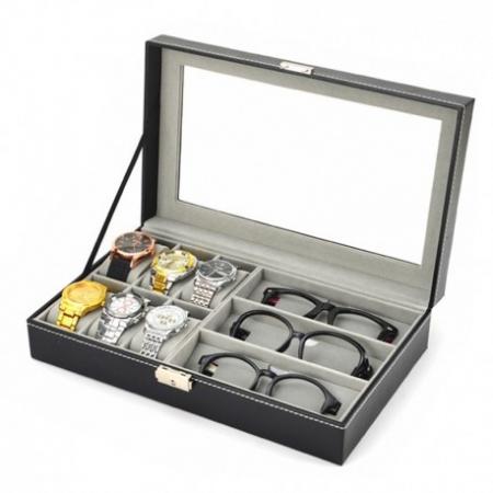 Cutie ceasuri si ochelari Wild Black [4]