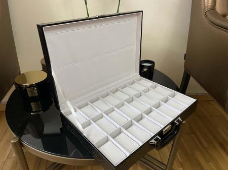 Cutie de 24 ceasuri Luxury Black Croco [5]