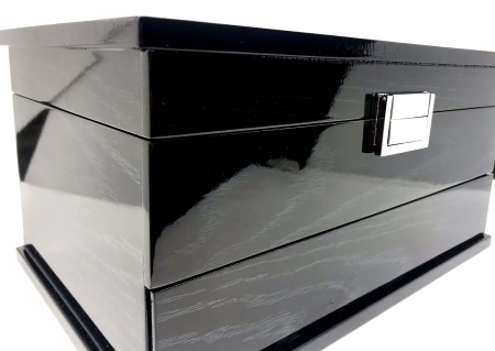 Cutie de Bijuterii Elegant Black Wood by Borealy3