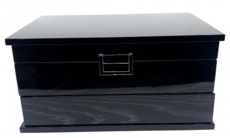 Cutie de Bijuterii Elegant Black Wood by Borealy2