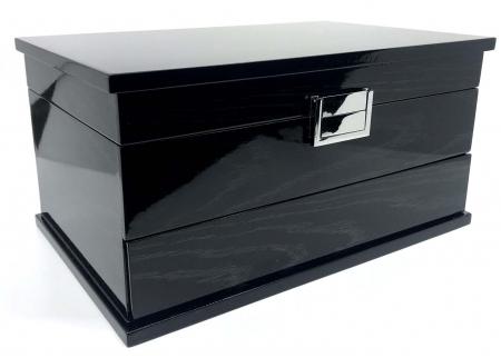 Cutie de Bijuterii Elegant Black Wood by Borealy0