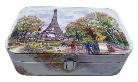 Cutie de bijuterii Turnul Eiffel, 22 x 14,5 cm [0]