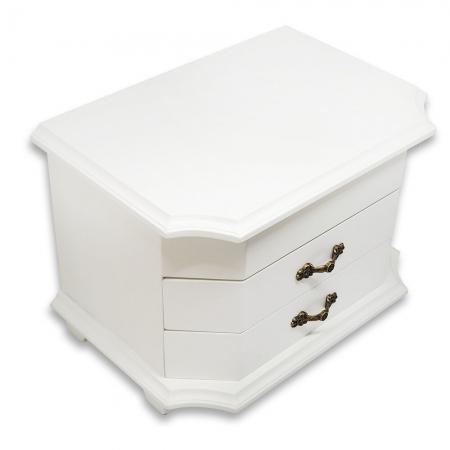 Cutie de Bijuterii White Wood Luxury [1]