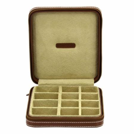 Cutie de butoni de lux din piele naturală Cordoba Friedrich - Made in Germany