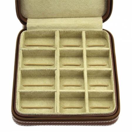 Cutie de butoni de lux din piele naturală Cordoba Friedrich - Made in Germany2
