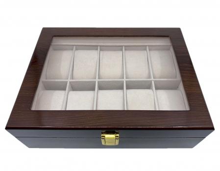 Cutie depozitare 10 ceasuri din lemn Classic Brown [1]