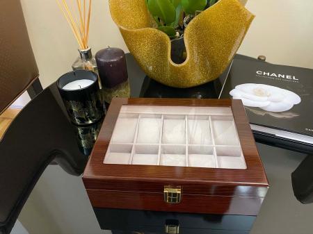 Cutie depozitare 10 ceasuri din lemn Classic Brown [0]