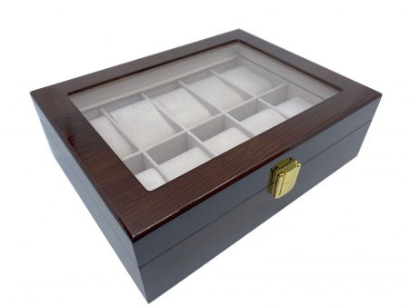 Cutie depozitare 10 ceasuri din lemn Classic Brown [2]