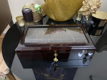 Cutie 10 ceasuri  Luxury Brown din lemn [2]