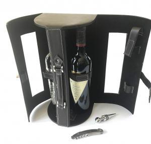 Cutie dubla de Vin de lux din piele2
