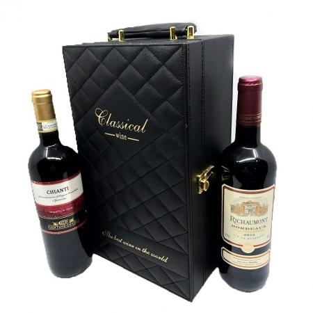 Cutie 2 Sticle Vin Classical Wine cu 4 accesorii
