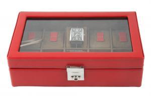 Cutie 10 Ceasuri piele naturala pentru femei Cordoba Bright Red by Friedrich - made in Germany1