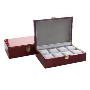 Cutie 8 ceasuri lemn Luxury Red0