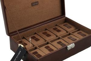 Set Cutie 10 ceasuri Bond Intense Brown by Friedrich si Note Pad Burgundy Hugo Boss - personalizabil2