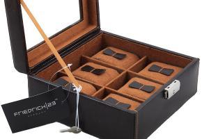 Set Cutie 6 ceasuri Brown Topas by Friedrich si Note Pad Burgundy Hugo Boss - personalizabil2