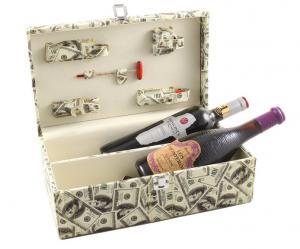 Cutie dublă de vin cu accesorii - Dollar Style0