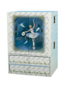 Cutie Muzicală Bijuterii Balerină Bleu&  Pandantiv 20 mm Blue Star0