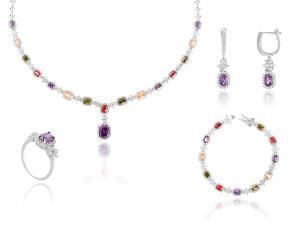 Dantelle Classic Multicolore Colier, Cercei, Brăţară şi Inel0