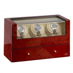 Watch Winder San Diego 3 Brown by Designhütte – Made in Germany0