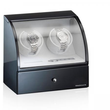 Designhutte Watch Winder Basel 2 BK - personalizabil