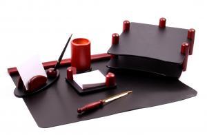 Set multifunctional pentru birou Special Wood Shape cu 6 accesorii