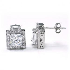 Cercei Borealy Argint 925 Diamonds Halo Square1