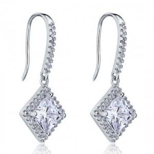 Cercei Borealy Argint 925 Diamonds Princess Dangle2