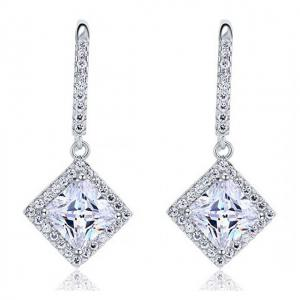 Cercei Borealy Argint 925 Diamonds Princess Dangle0