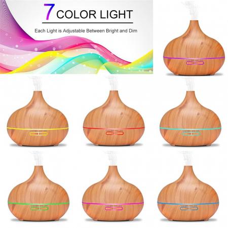 Difuzor Big Aromaterapie cu Ultrasunete, Telecomanda si Lumina LED 7 culori  - 500 ml [8]