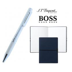 Set Dupont Bille/Point Diamond St Germain si Note Pad Blue Hugo Boss