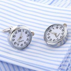 Elegant Premium Gift Set Pix Hugo Boss si Butoni cu Ceas Functional White Quartz2