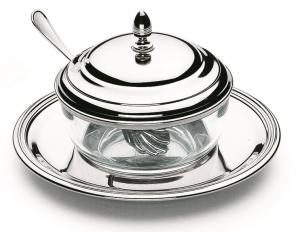 Bol rotund argintat pentru zahar/ parmesan by Chinelli, made in Italy