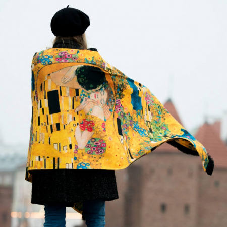 Esarfa Matase Kiss - Gustav Klimt [2]