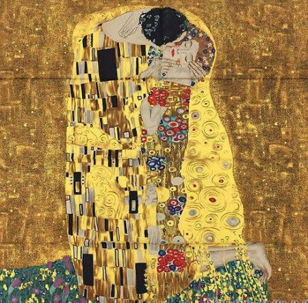 Esarfa Matase Kiss - Gustav Klimt0