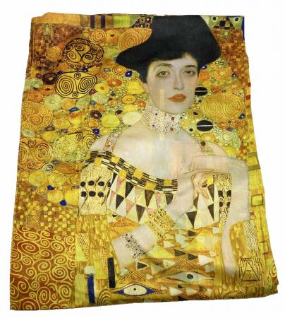 The Lady in Gold Esarfa Matase  - Gustav Klimt - Cadou Ziua Mamei1