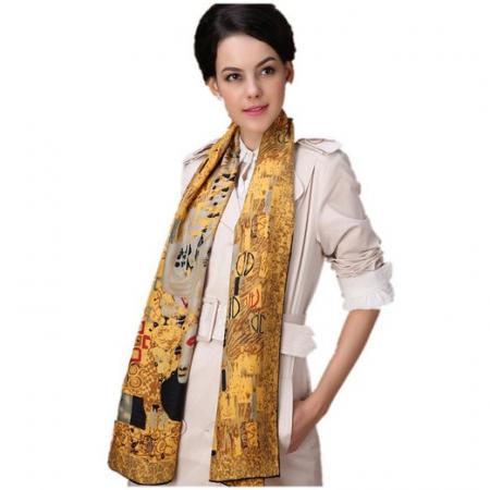 The Lady in Gold Esarfa Matase  - Gustav Klimt - Cadou Ziua Mamei0