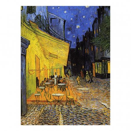Esarfa Matase  - Van Gogh Terasa Cafenelei Noaptea0