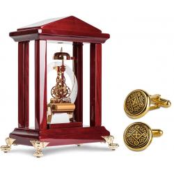 Set Exquisite Luxury Louvre Watch by Credan si Butoni Gold Round by Credan