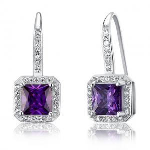 Cercei Borealy Argint 925 Simulated Sapphire Lady Purple1