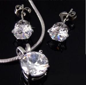 Diamond 3,5ct Set Medalion & Cercei by Borealy [1]