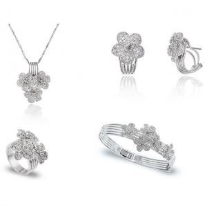Flora Set Medalion, Cercei, Bratara si Inel Borealy0