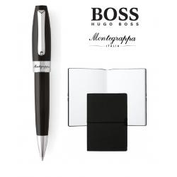 Set rollerball Fortuna Black Steel Montegrappa si Note Pad Hugo Boss