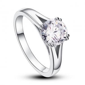 Inel Solitaire Simulated Diamond Argint 925 Marimea 61
