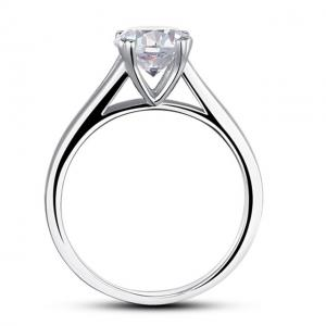 Inel Solitaire Simulated Diamond Argint 925 Marimea 62