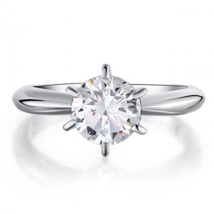 Inel Borealy Argint 925 Solitaire Lux Simulated Diamond Marimea 61